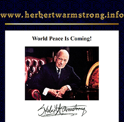 the lost tribes of israel claims by herbert armstrong Debunking british israelism racists  during his lifetime, armstrong was the self-proclaimed apostle of the only true church on earth today herbert armstrong was father of television and radio evangelist garner ted armstrong  the basic idea is the white americans and british are the lost ten tribes of israel the jews/israel of the.
